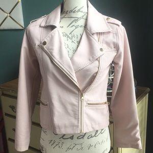 NWOT Girls faux leather jacket